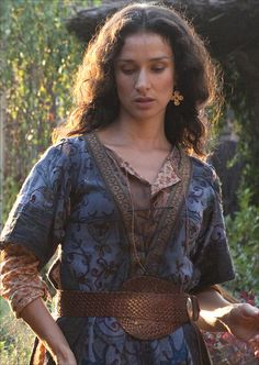 This costume from the 2012 mini-series World Without End was first worn on Indira Varma as Mattie Wise