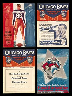 chicago 1938 | Lot Detail - 1938-1955 Chicago Bears Programs (8)