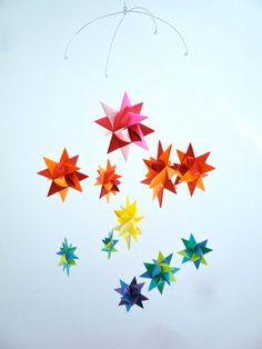 Baby Crib Mobile Hanging Origami Stars 'Ursa by theStarcraft, $38.00