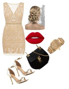 """""""Untitled #20"""" by esmalapandic ❤ liked on Polyvore featuring Nicole Miller, ALDO, Chloé and Versace"""