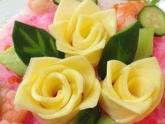 色々バリエ♡簡単スライスチーズバラの花の画像