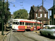 Pittsburgh PCC Trolleys | pittsburgh pennsylvania usa streetcars on pittsburgh s fineview route ...