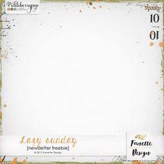 Lazy sunday {$1 Pickle Barrel} + freebies #fanettedesign #pickleberrypop #digitalscrapbooking #freebie #newsletter
