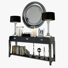 3d max eichholtz military console table