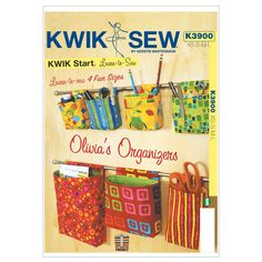 Organizadores, cute way to organize-maybe in closet or bathroom as well as craft room? Sewing Hacks, Sewing Tutorials, Sewing Tips, Fabric Crafts, Sewing Crafts, Kwik Sew Patterns, Pattern Sewing, Free Pattern, Sewing Room Organization