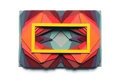 """""""35 Kaleidoscope 3"""" by Maud Vantours Paper Sculpture"""