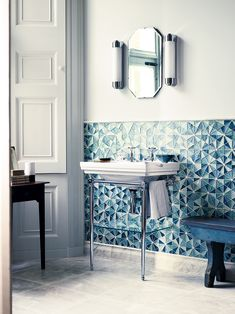 The new Iridescent glass mosaics range from Fired Earth