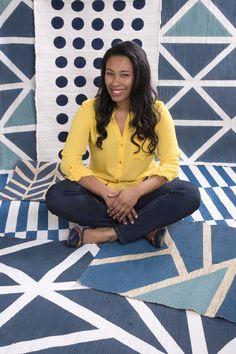 Tips to make DIY geometric painted rugs