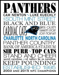 Carolina Panthers,Poster,Subway Wall Art, Print, Subway Art, football, all teams available, also in