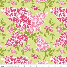 Carina Gardner - Dainty Blossoms - Floral in Green $8.75 yd
