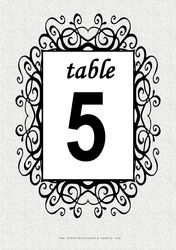 Free 'Whirly' printable DIY Table Numbers for your wedding reception or restaurant