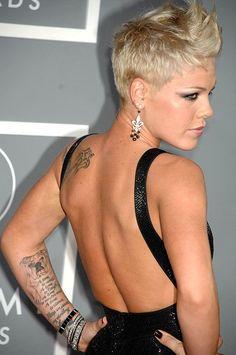 Pink's Tattoos...I think she is soooo pretty.