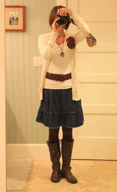 Cute outfit...wish I could swing belts like I used to!