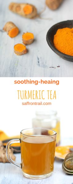 A simple recipe for a tea made from Turmeric root  - enjoy the numerous health benefits of this magical spice.