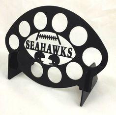 Seattle Seahawk Coffee Display football Black10 K Cup  Keurig tree pod holder #MarketingHolders