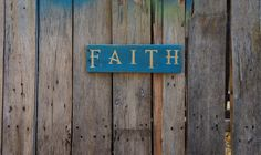 Faith pallet sign, pallet wall art, distressed, rustic, reclaimed wood, hand painted, wooden sign, faith art, recycled wood, faith wood sign by PurplePaisleyPalace on Etsy