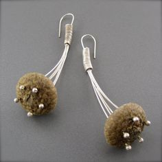 Acorn Cap and Silver Earrings by LaurelMillsJewelry on Etsy, $100.00