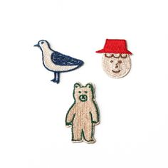 bear / by Circus boy band Cute Patches, Pin And Patches, Handmade Crafts, Diy And Crafts, Arts And Crafts, Embroidery Patches, Embroidery Patterns, Simple Art, Cute Illustration