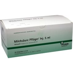 MILCHSÄURE Pflueger Injektionslösung 5 ml:   Packungsinhalt: 50 St Injektionslösung PZN: 01222412 Hersteller: A.Pflüger GmbH & Co. KG…
