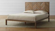 chevron wood bedhead - Google Search