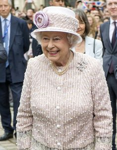 Queen Elizabeth II visits Paris Flower Market on June 7, 2014 in Paris, France. Queen Elizabeth II and Prince Philip, Duke of Edinburgh are on the final day of a three day State Visit to Paris.