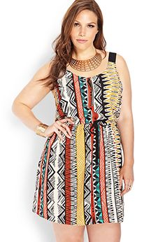 Possibly good dress for this summer. Far East Zippered Dress | FOREVER21 PLUS - 2000088547