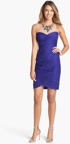 Adrianna Papell Embellished Tiered Sheath Dress - Lyst