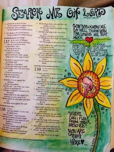 Psalms bible journaling
