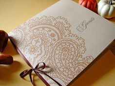 Paisley Wedding Guest Book by Earmark on Etsy, $ 25.00