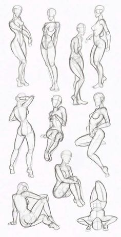 Female Body Drawing - Female Human Body Drawing to drawing poses Body Sketches, Drawing Sketches, Art Drawings, Sketching, Drawing Art, Cartoon Drawings, Drawing Techniques, Drawing Tips, Female Drawing Poses