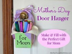 May Day or Mother's Day Gift Hanger Idea