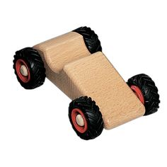Handmade in Germany, our Wooden Toy Car - Speedy by Fagus will rev up your child's playtime! Cleverly constructed without the use of screws or nails, this chunky Wooden Toy car is lovingly made of bee