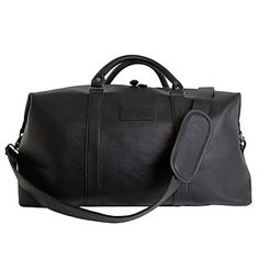 Weekender Bag - Overnight Travel Carry On Duffel Tote Bag [Brass Finishing] PU Leather - Black Snugg http://www.amazon.com/dp/B014W6Q3PS/ref=cm_sw_r_pi_dp_WN-dxb0NYD9CW