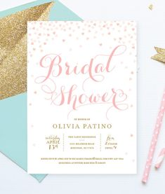 Excited to share the latest addition to my #etsy shop: Printable Bridal Shower Invitation . Pink and Gold Invitation . Digital File Download . Printable . Pink hearts . Pink or Gold Glitter text