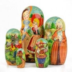 Fairytale Little Red Riding Hood Nesting Doll