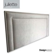 JULIETTE CHROME Stud Upholstered Bedhead for King Size Ensemble - DOVE