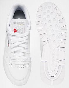 Zapatillas de cuero blancas de Reebok Classic 4d0e098dc