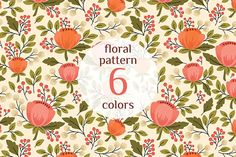 Floral Pattern by Maria Galybina on @creativemarket
