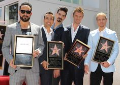 backstreet boys | backstreet boys backstreet boys are honoured with a hollywood star on ...
