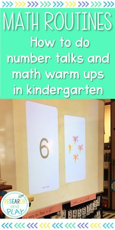 Number talks and math warm ups are powerful tools for sense-making in math. Start this routine with your kindergarten students and watch their math skills and academic vocabulary deepen! #numbertalks #mathwarmups #kindergartenmath #mathroutines #researchandplay