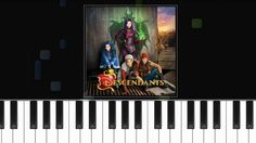 """Descendants Cast - """"Rotten to the Core"""" Piano Tutorial - Chords - How To..."""