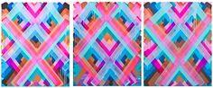 Maya Hayuk, 'Chemtrail Triptych,' 2014, Circle Culture Gallery