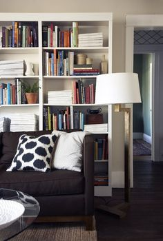 Living Room Layout Ideas: Place a Bookcase Behind Your Sofa