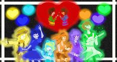 But it was worth it Its also going to be my new background for my laptop Undertale - Toby Fox Art - Me Please Don't S. Undertale Souls, Undertale Au, All My People, Toby Fox, Undertale Drawings, New Backgrounds, Human Soul, Fox Art, Frisk