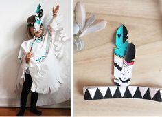 DIY // Indianer Umhang zum Karneval schnell Selbermachen, und das ganz ohne Nähen. Für Mädchen oder Jungen, inkl. Free Printable - mehr auf www.FAMILICIOUS.de