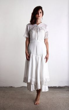 white edwardian dress