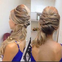 penteado de lado rabo