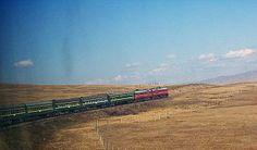The Trans-Mongolian Railway in the Gobi Desert