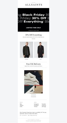 Handpicked design inspiration for your real life projects Email Design, Ui Design, All Saints, Real Life, Mobile Ui, App, Website, Instagram, Style