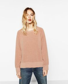 ZARA - WOMAN - SWEATER WITH SIDE SLIT AND FRILLS